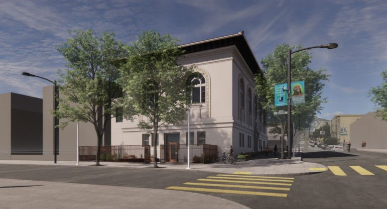 Mission Library, rendering via SF Public Works