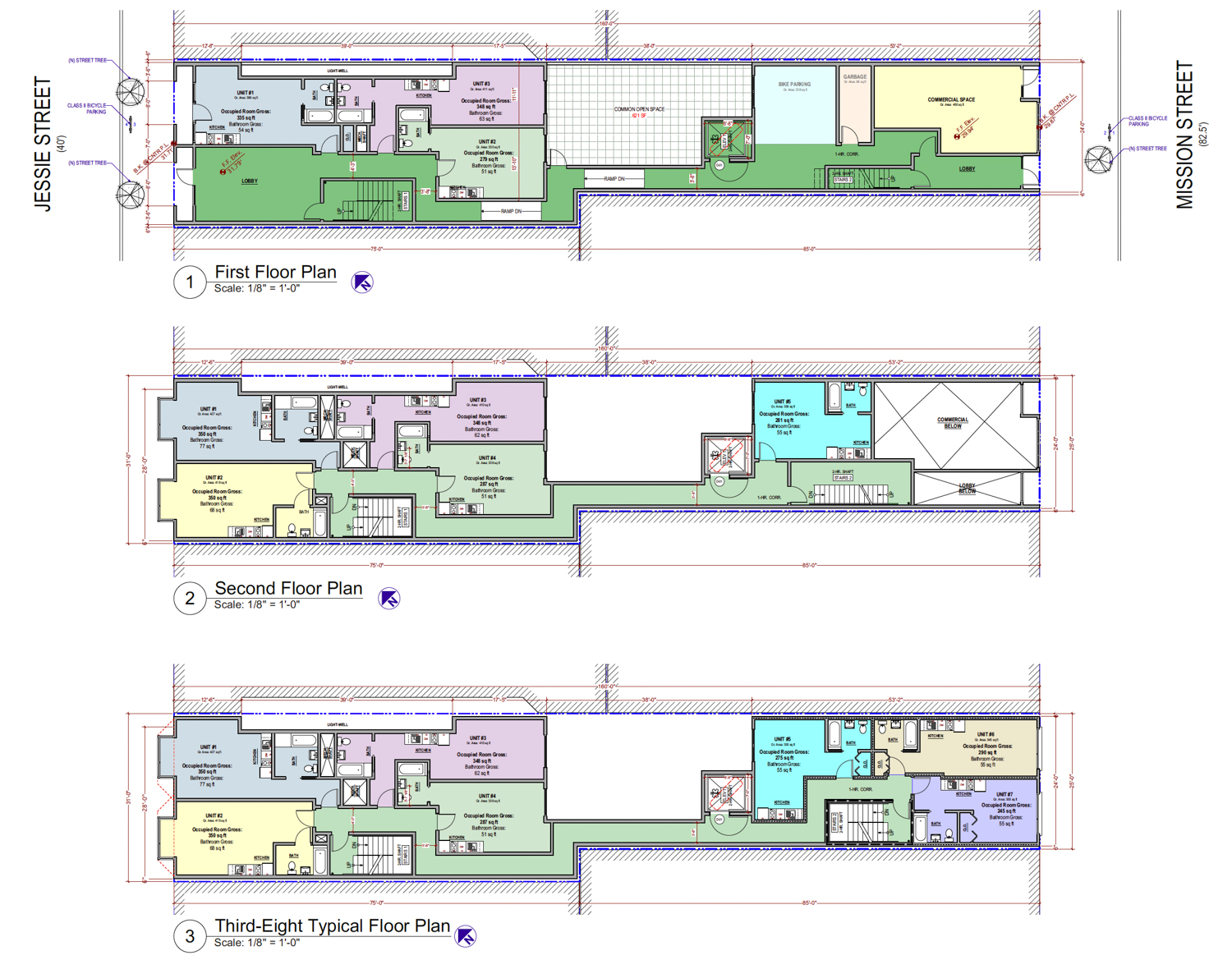 1010 Mission Street floor plans, design by SIA Consulting