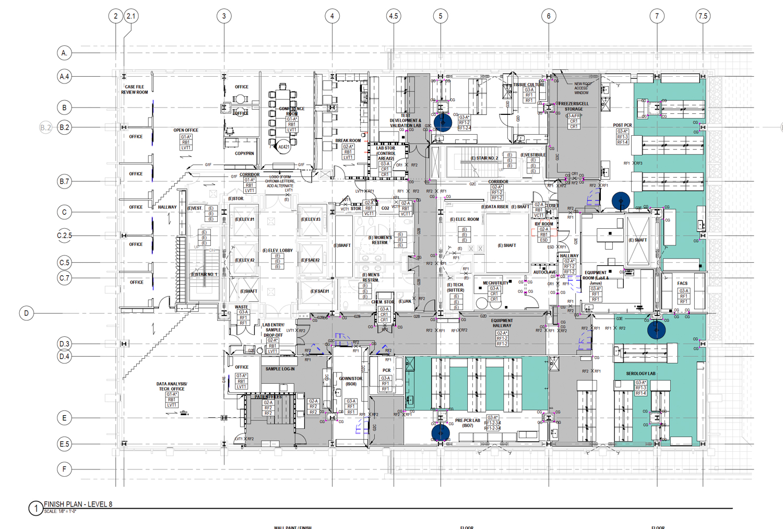 1100 Van Ness 8th level floor plan, via DGA