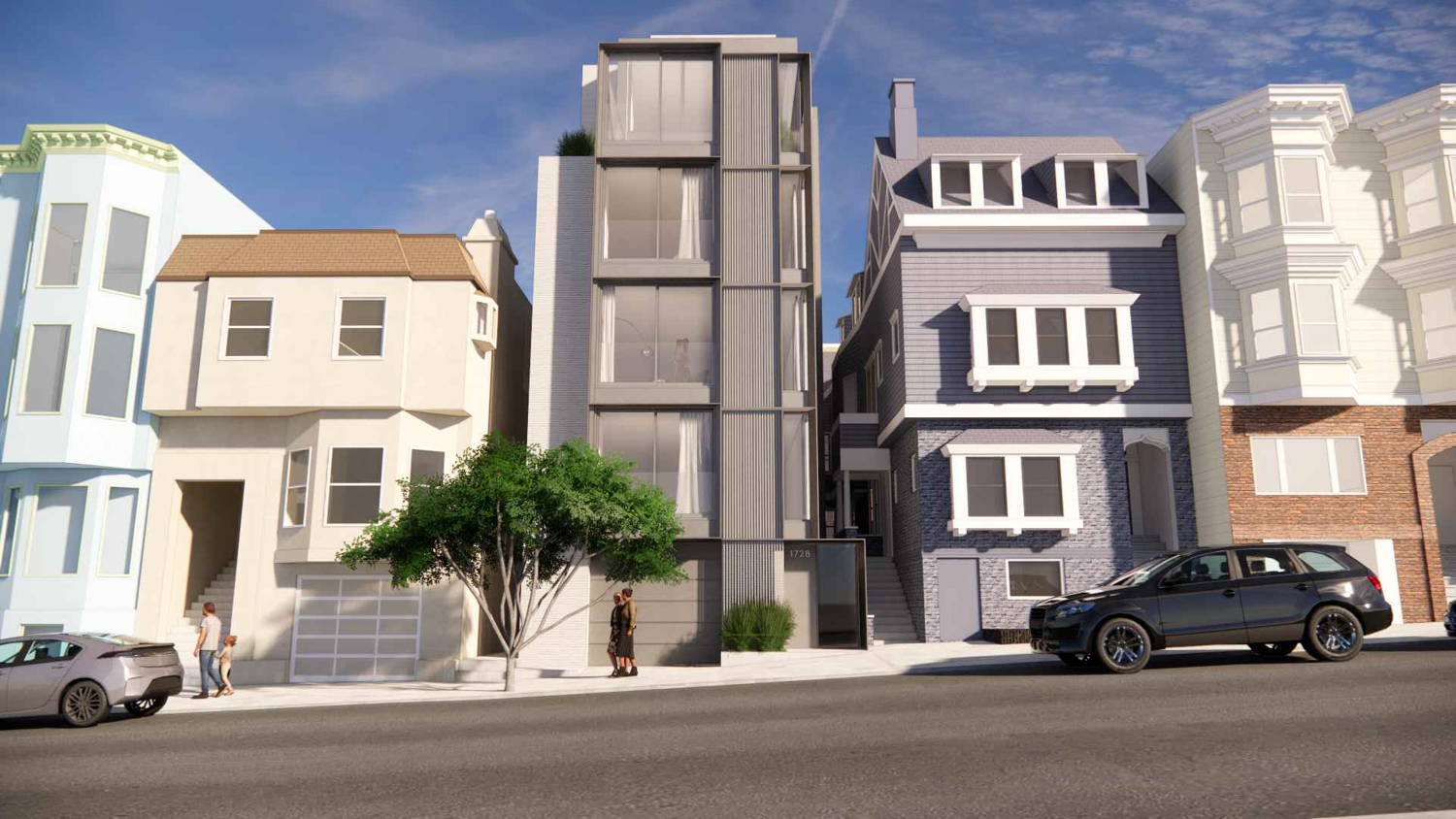 1728 Larkin Street, design by Dumican Mosey Architects