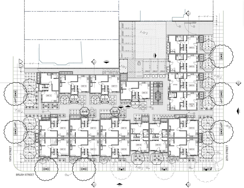 1925 Brush Street floor plan, by LDP Architecture