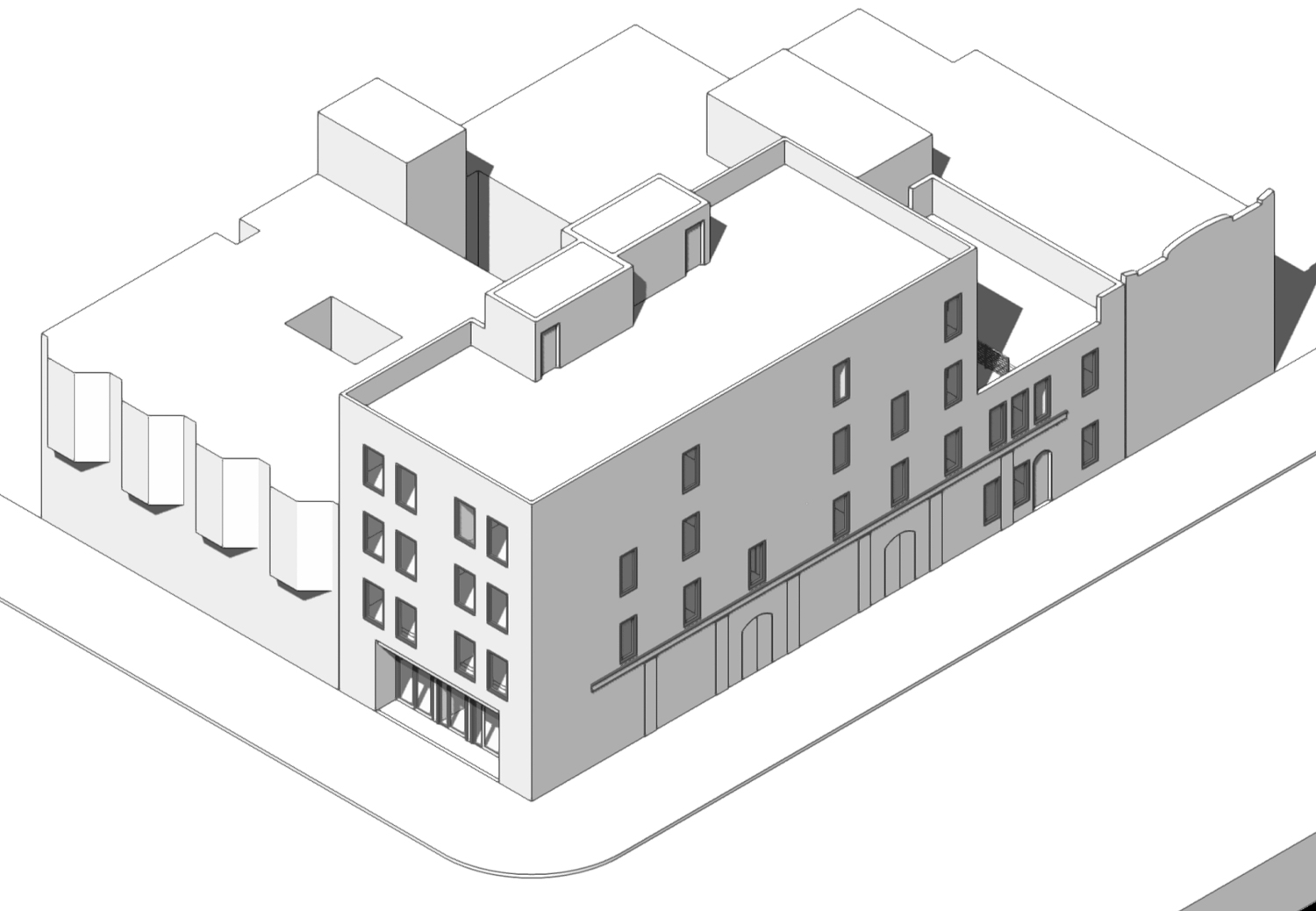 2200 Clement Street, drawing by SIA Consulting