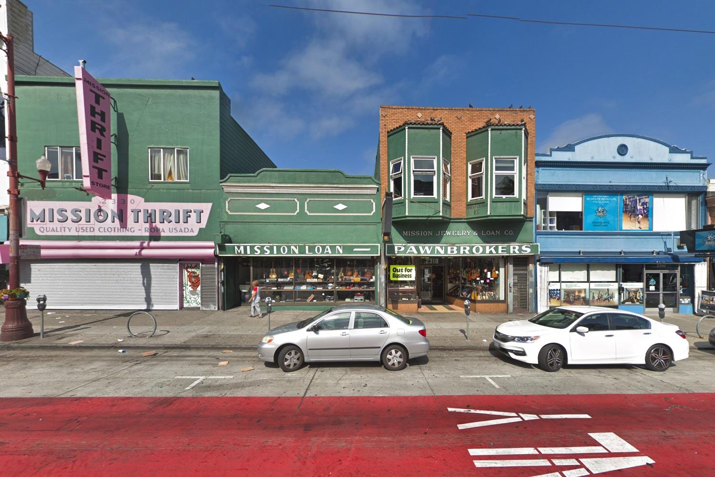 2318 Mission Street, via Google Street View circa 2018