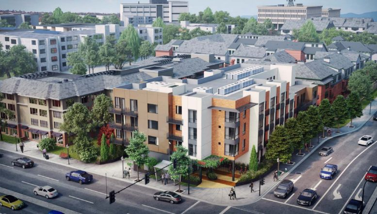 2755 El Camino Real, rendering by BDE Architecture
