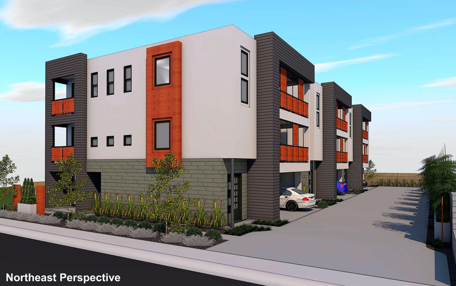 3040-3056 58th Street Northeast perspective, design by Studio 81