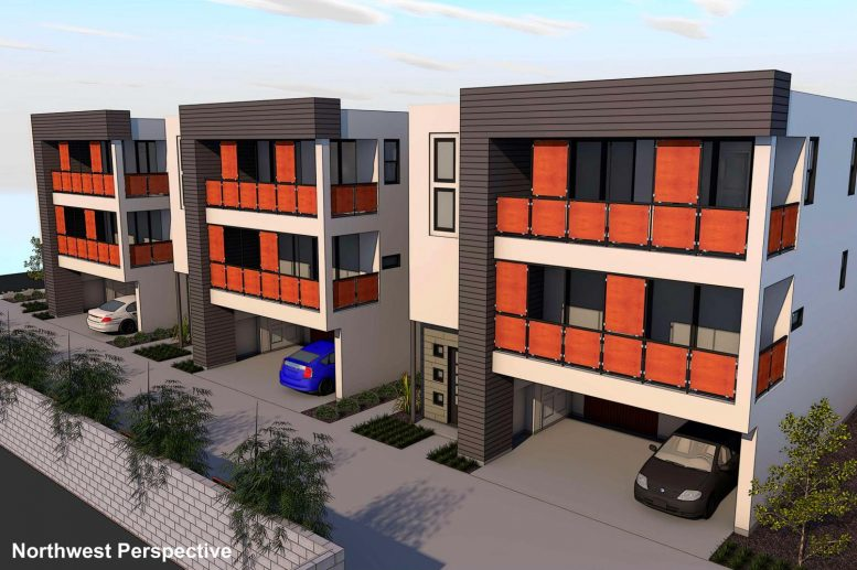 3040-3056 58th Street Northwest perspective, design by Studio 81