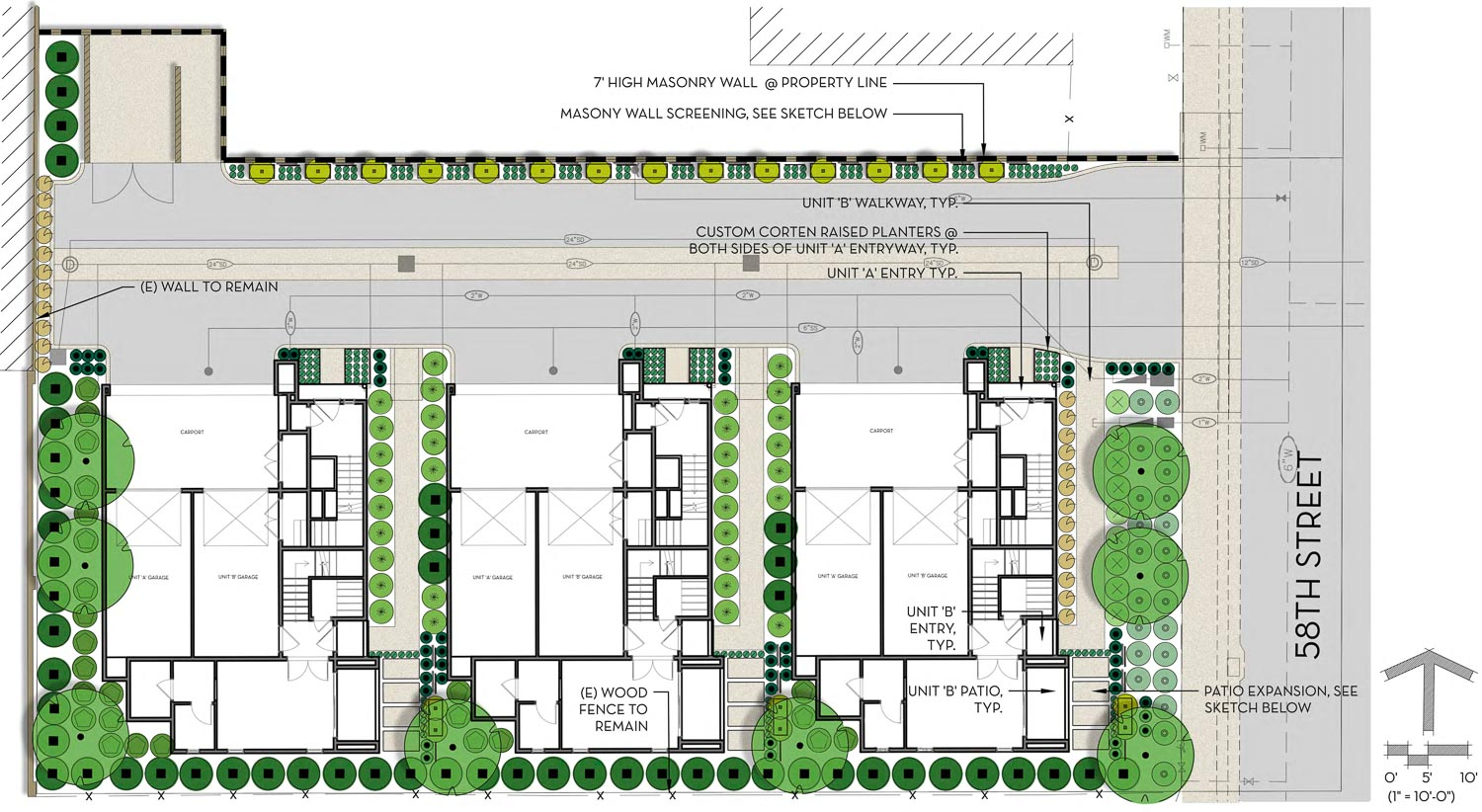 3040-3056 58th Street floor plan, design by Studio 81
