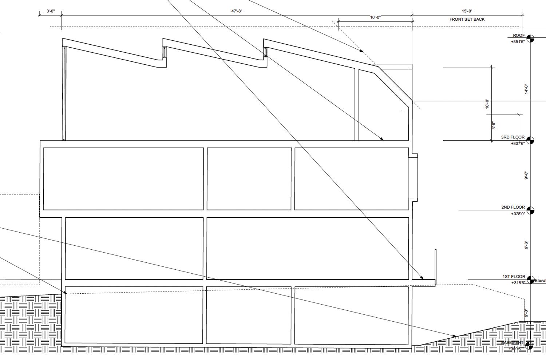 4034 20th Street cross-cut elevation, via Harris Architects