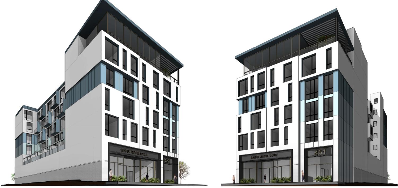 451 28th Street street view, design by Kerman Morris Architects