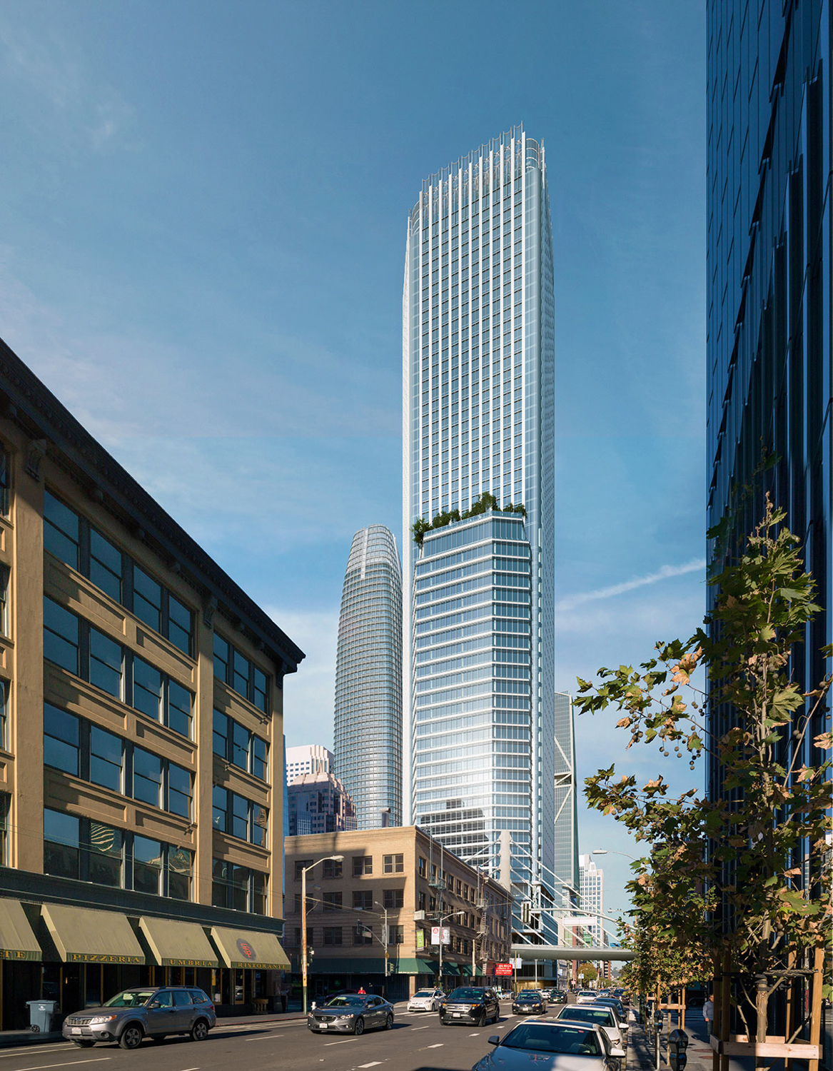 550 Howard Street:Parcel F Architectural design, rendering by SteelBlue