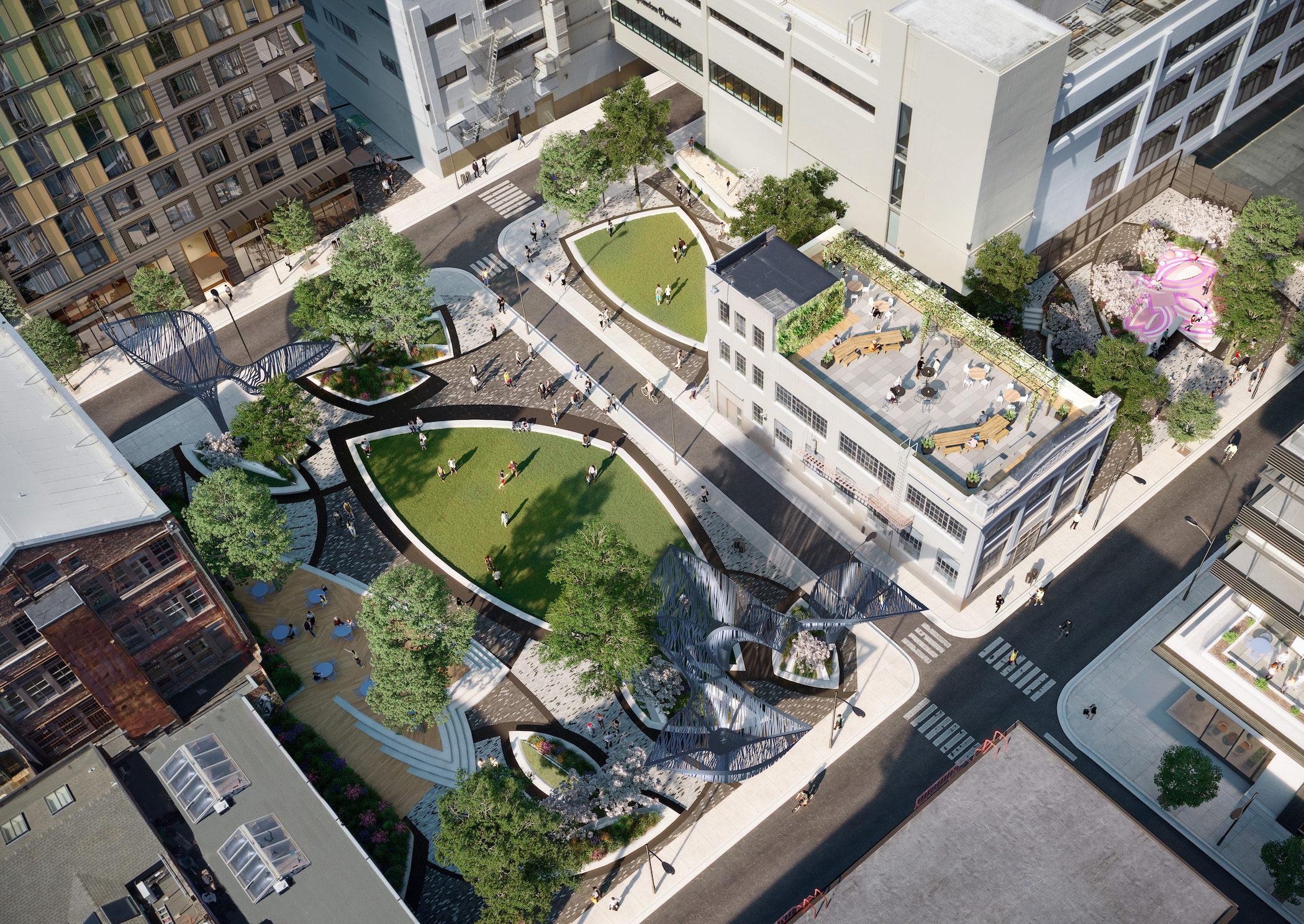 The Mary Court public space, image courtesy Brookfield Properties