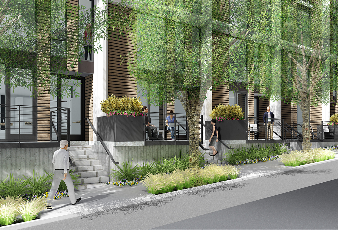 830 Eddy Street view from Willow Street, rendering by Law Winery