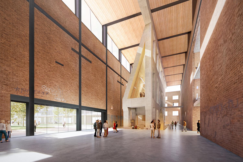 Station A Turbine Hall interiors, design by Herzog & de Meuron, Adamson Associates