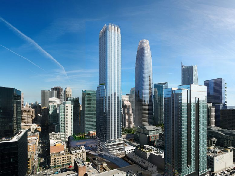 Parcel F Tower, design by Pelli Clarke Pelli with rendering by SteelBlue