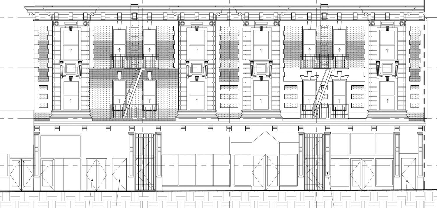 Proposed west-facing elevation at 2619 Mission Street, design by Open Scope Architecture