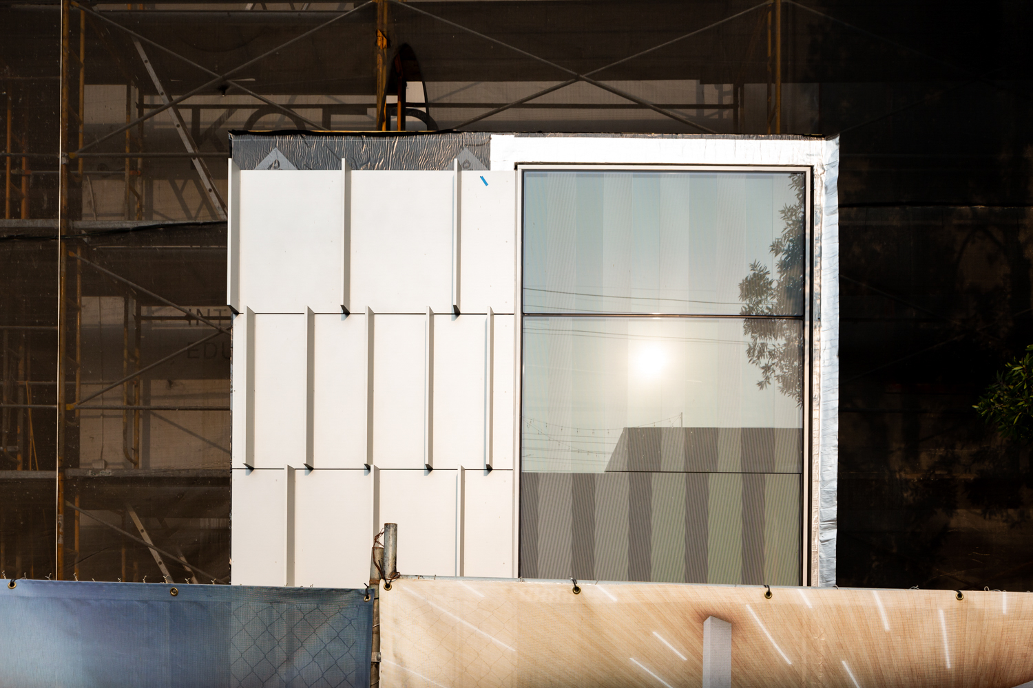Sample of Facade for the KQED HQ at 2601 Mariposa Street, image by Andrew Campbell Nelson