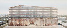 Station A office building, design by Herzog & de Meuron, Adamson Associates