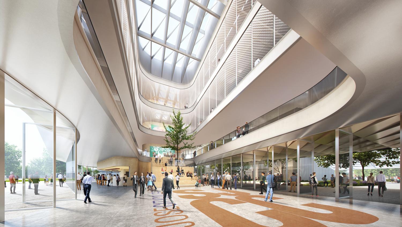 San Jose City College Career Education Complex main atrium, design by Steinberg Hart