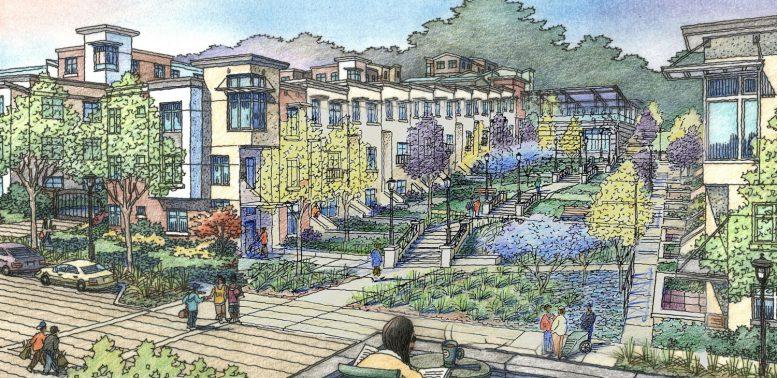 Street view of Sunnydale development, via VMWP Architects