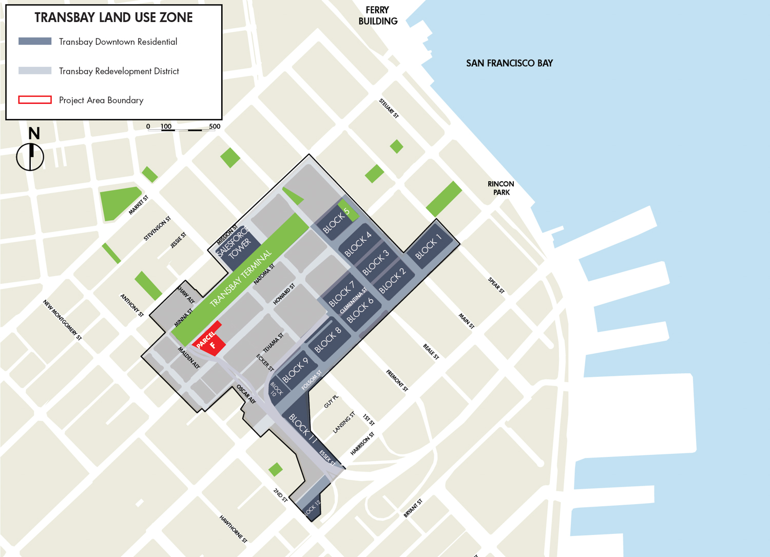 Transbay Overview, plan from planning documents