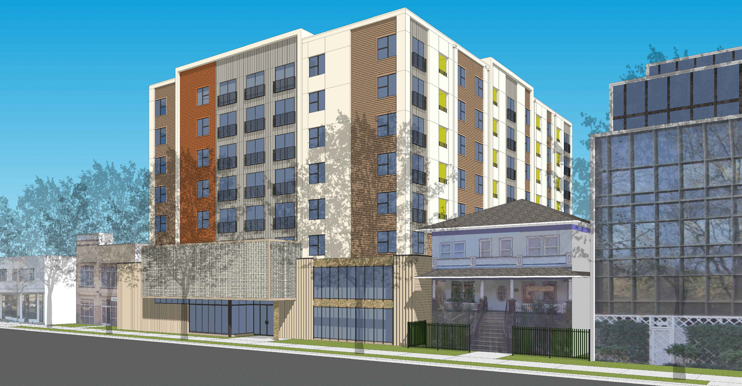 1220 H Street Northwest view, rendering by Kuchman Architects PC