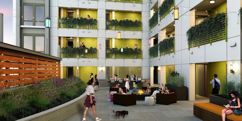 16 Powerhouse courtyard, development owned by Demmon Partners