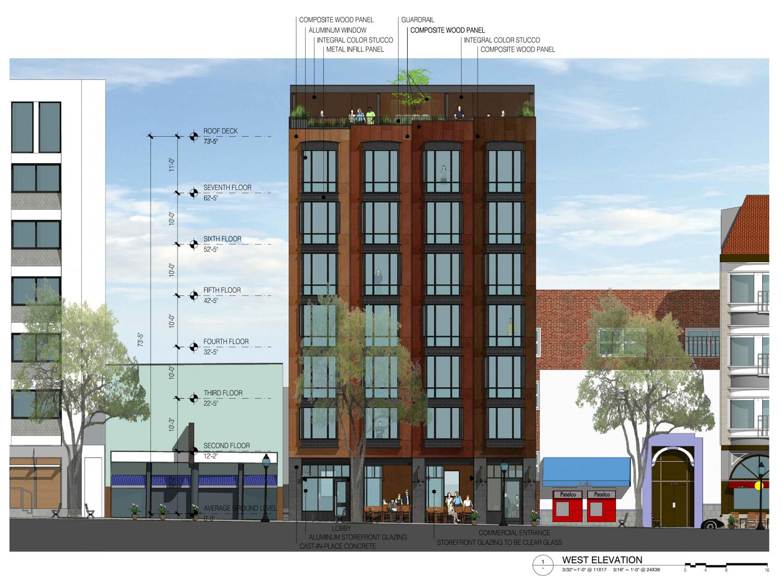 2023 Shattuck Avenue elevation, drawing via Trachtenberg Architects