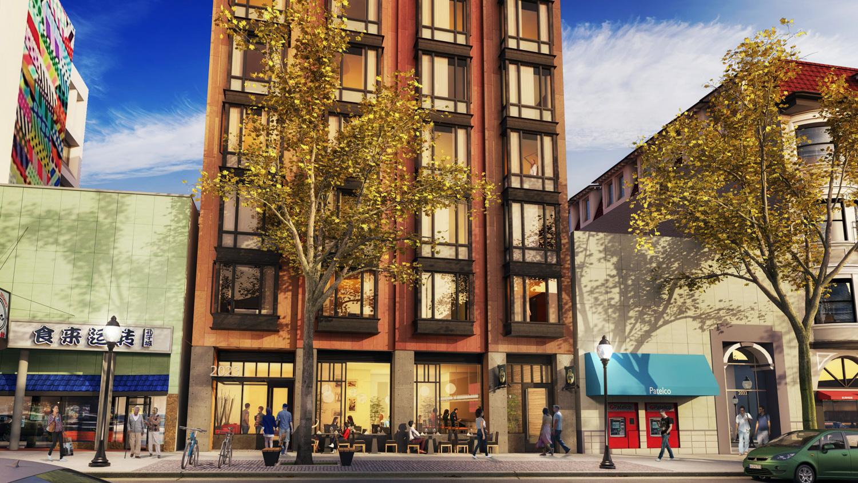 2023 Shattuck Avenue ground level, rendering via Trachtenberg Architects