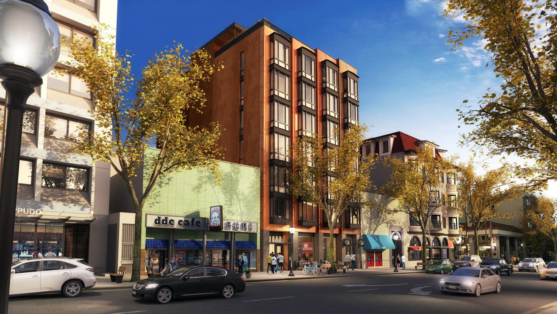 2023 Shattuck Avenue, rendering via Trachtenberg Architects