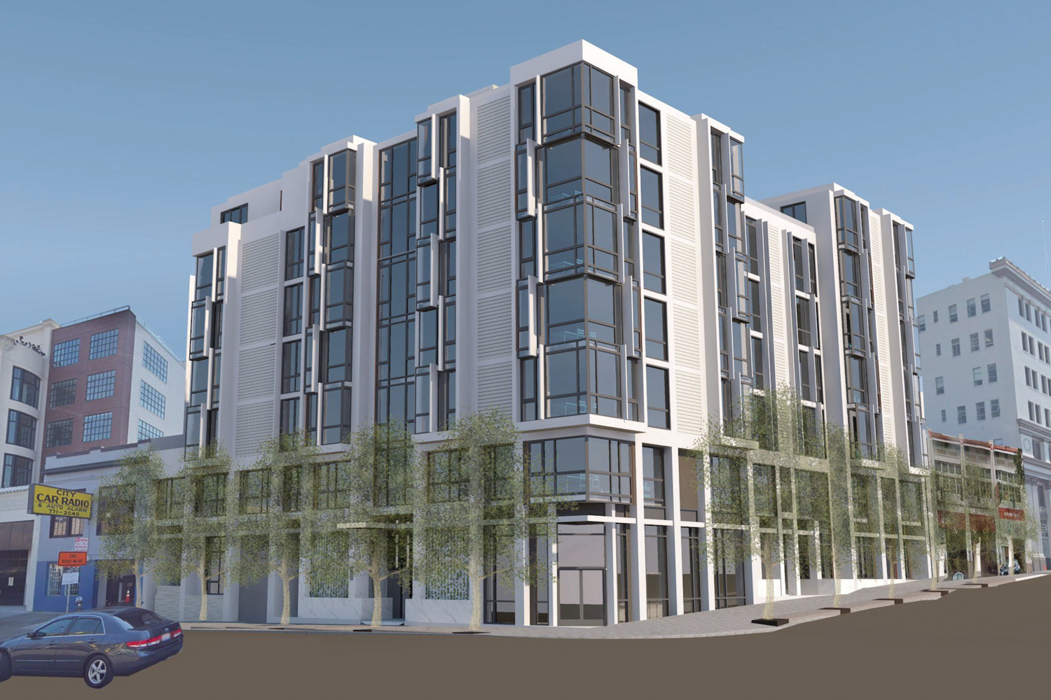 2050 Van Ness Avenue, rendering by ib+a Architecture