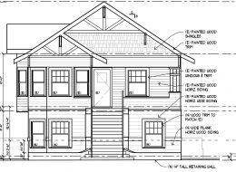 2526 Q Street facade, drawing by Tim Sullivan Engineering