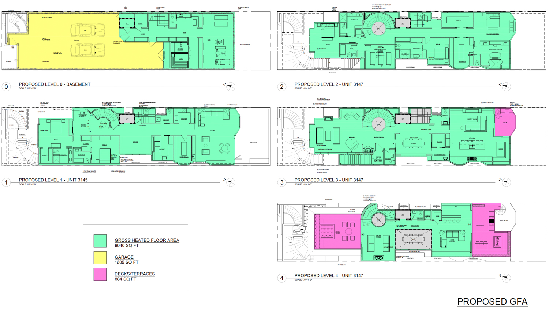 3145 Jackson Street proposed floor plan, design by Geiszler Architects