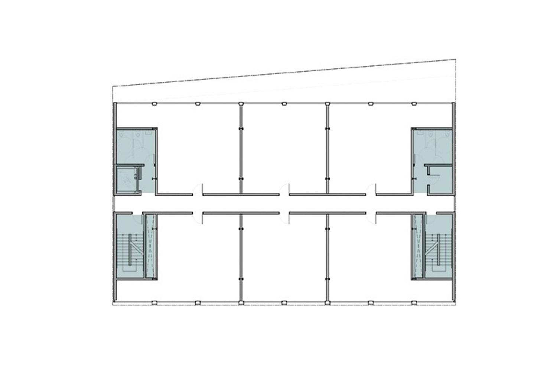 340 11th Street floor plan, rendering courtesy Stanley Saitowitz Natoma Architects
