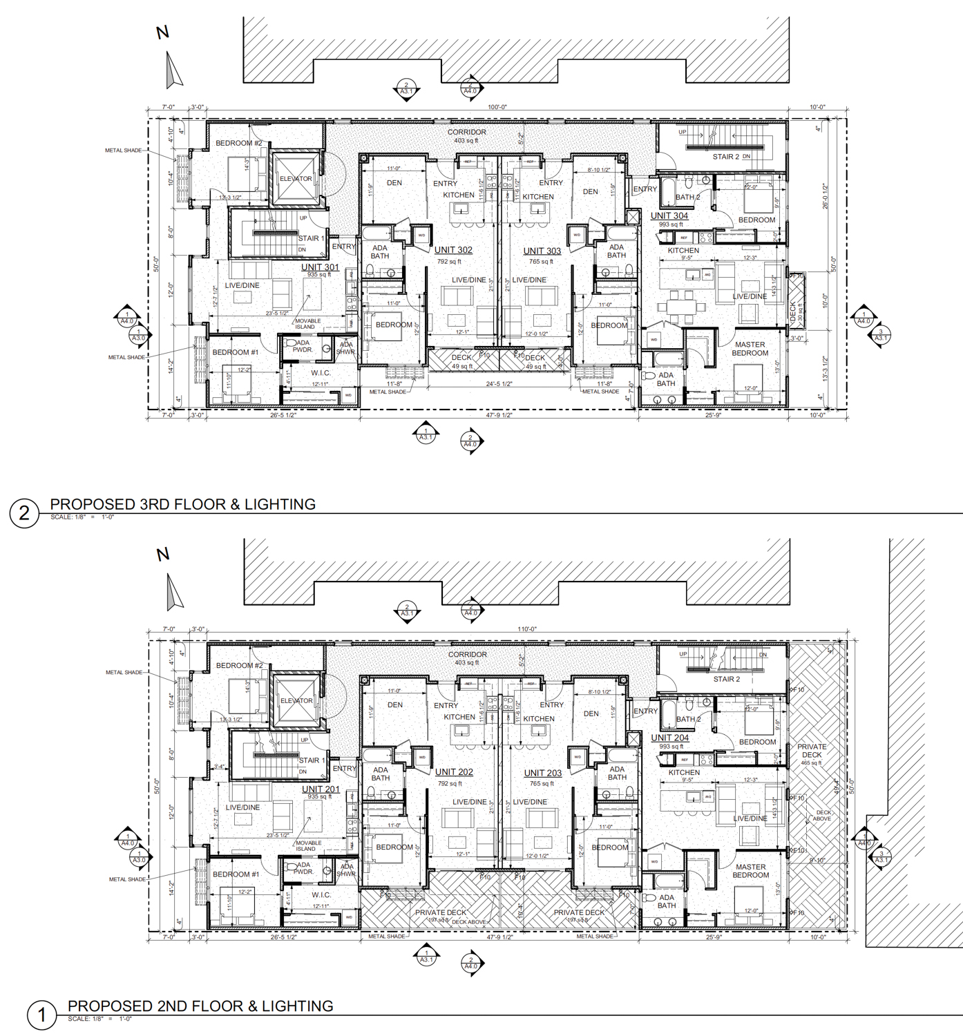 3414 Andover Street floor plan, design by Kotas Pantaleoni Architects