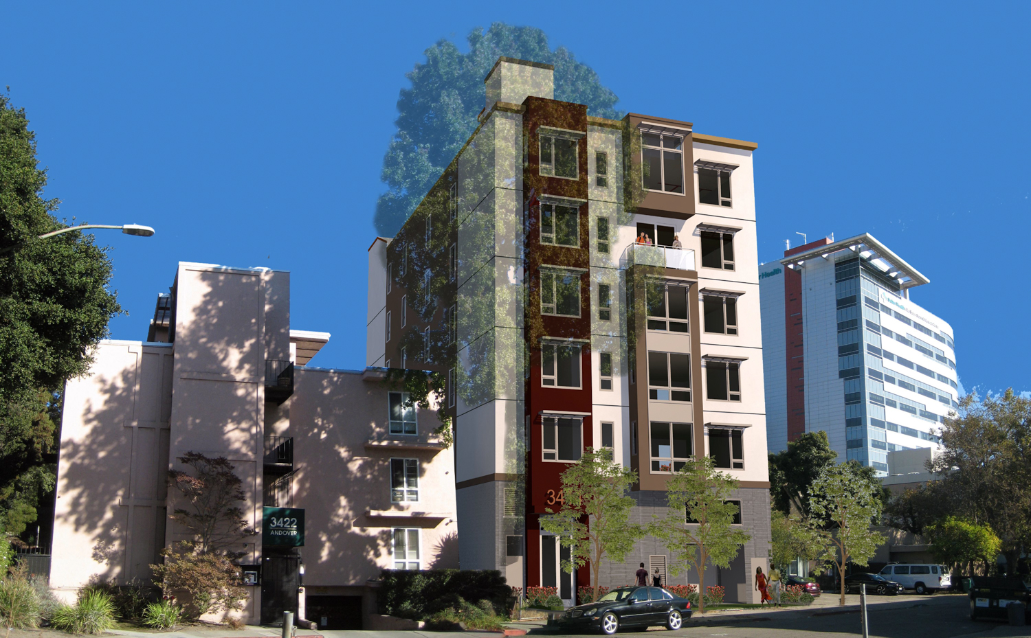 3414 Andover Street northwest rendering, design by Kotas Pantaleoni Architects