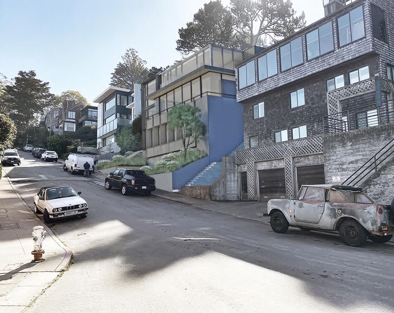 35 Belgrave Avenue looking southeast, design by John Maniscalco Architect