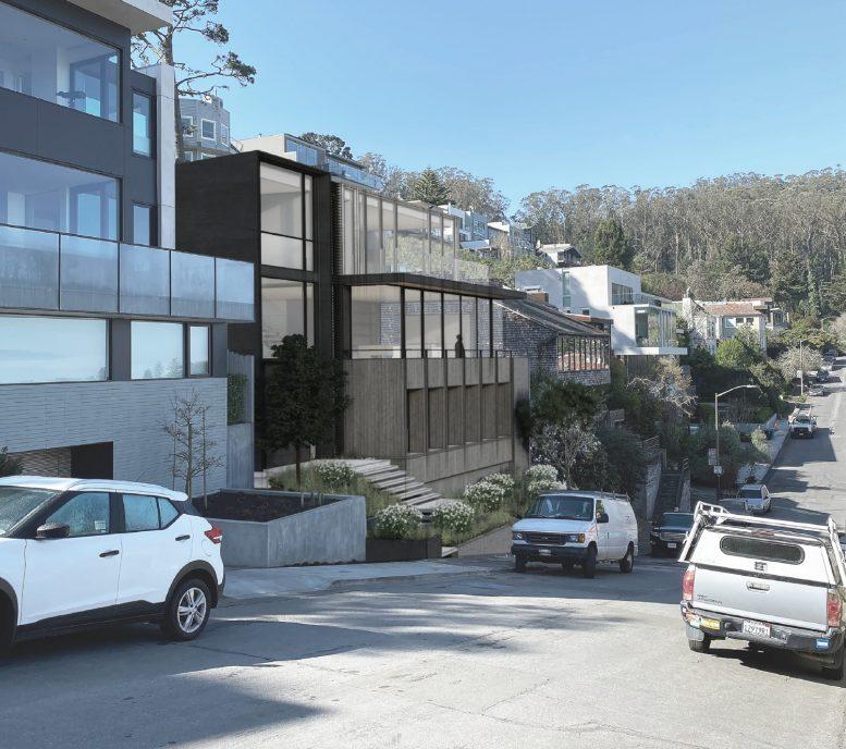 35 Belgrave Avenue looking southwest, design by John Maniscalco Architect