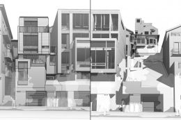 3927 19th Street Left, 3931 19th Street at right, drawing by Studio 12 compiled by SFYIMBY
