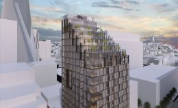447 Battery Street visual Simulation looking east, by Heller Manus Architects