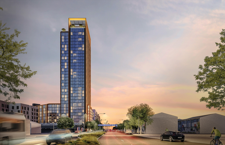 500 Kirkham, rendering courtesy BDE Architects
