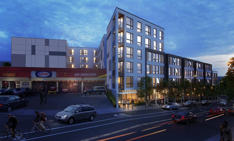 65 Ocean Avenue street view, rendering by rg architecture