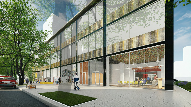 730 I Street office building street view, rendering courtesy De Bartolo + Rimanic Design Studio