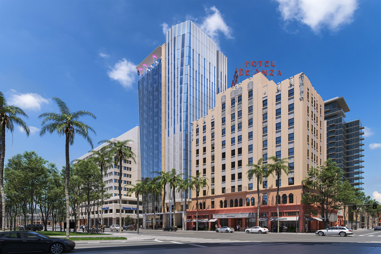 8 Almaden Boulevard beside the Hotel De Anza, rendering by C2K Architects