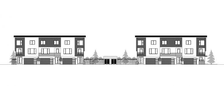 907 North Capitol Avenue elevation, drawing by Elite Design Studio