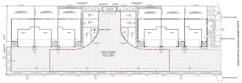 907 North Capitol Avenue floorplan, drawing by Elite Design Studio