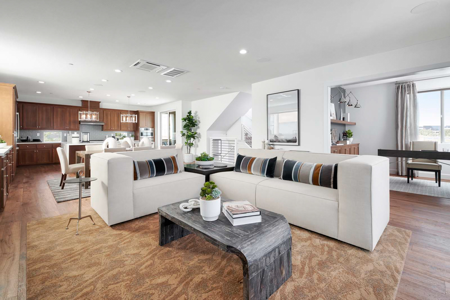 Great room residence for the largest of units at Mulholland, via Brookfield