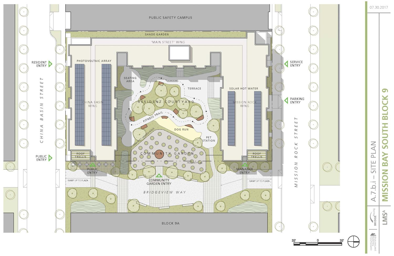 Mission Bay Block 9 or 410 China Basin Street ground level floorplan, via Community Housing Partnership