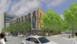 Mission Bay Block 9 / 410 China Basin Street ground level view, rendering courtesy TS Studio