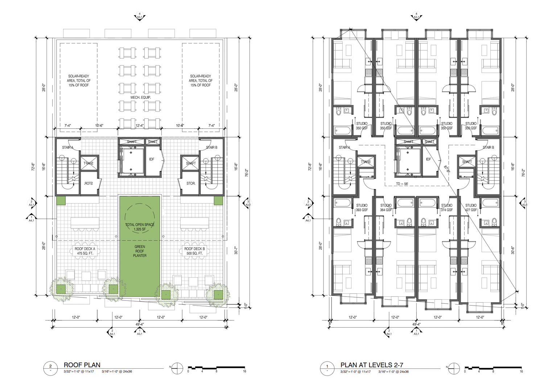 Rooftop deck for 2023 Shattuck Avenue, rendering via Trachtenberg Architects