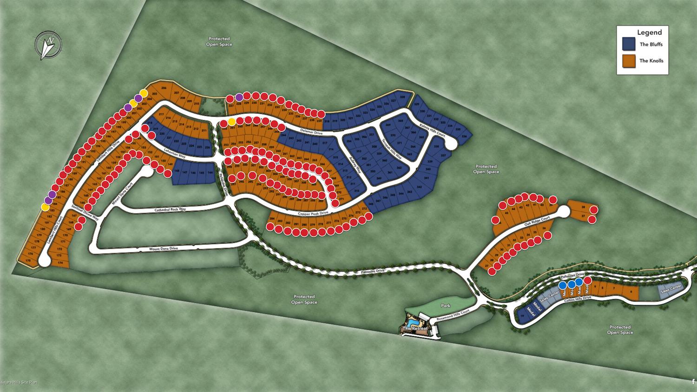 Tassajara Hills development site map, courtesy Toll Brothers